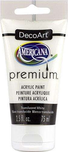 Premium Acrylique Artiste Peinture, Acrylique, Translucide Blanc, 3.8 x 3.8 x 13.7 cm