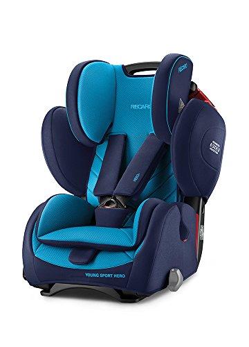 Recaro Young Sport Hero 6203.21504.66 Silla de Coche, Grupo 1/2/3, Azul (Xenon Blue)
