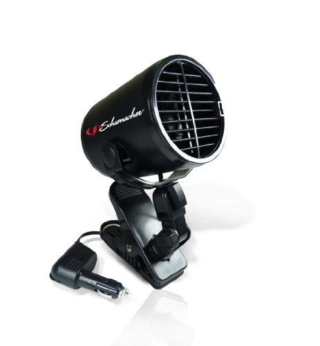 Schumacher Turbo Fan with Heavy-Duty Clamp - 12V - for Cars, Trucks, Buses, RVs, and Boats