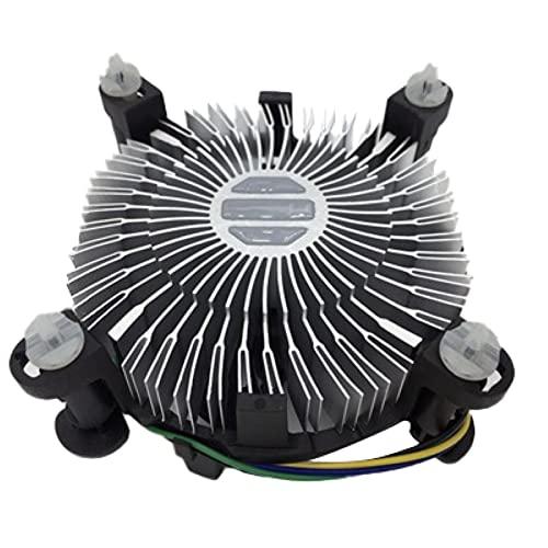 Cmstop Enfriador de CPU, Ventilador de enfriamiento de Ordenador silencioso de aleación de Aluminio Universal, Placa Base de...