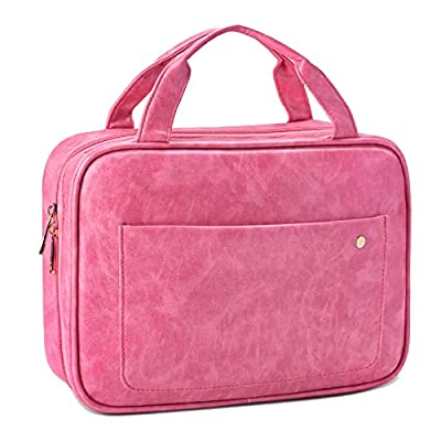 Travel Toiletry Bag with Hanging Hook for Women...