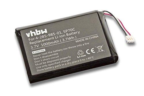 vhbw batteria compatibile con Sony Playstation Portable PSP Street E1000, E1002, E1008 sostituisce Sony SP70C, 4-285-985-01 (Li-Ion, 1000mAh, 3.7V)