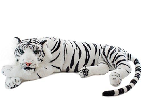 BRUBAKER peluche tigre de color blanco de 60 cm