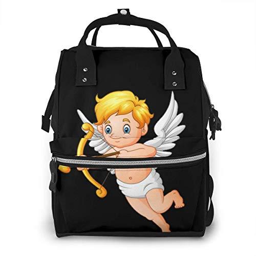Sac à langer de grande capacité, étanche, sac de remplacement pour soins de bébé, polyvalent élégant et durable, convient pour maman et papa (collection Cupidon Angel Set3)