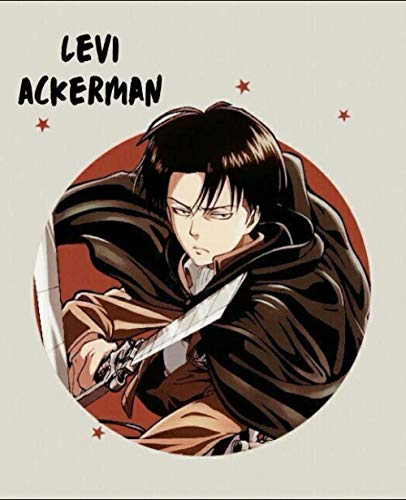 Levi Ackerman: Attack on titan levi journal, Diaries notebook (7.5 x 9.25) 100 lined pages
