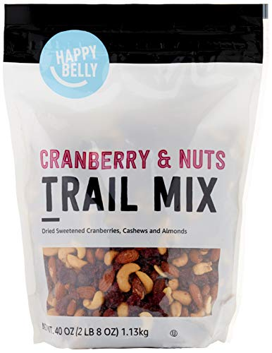Amazon Brand - Happy Belly Cranberry & Nuts Trail Mix, 40 oz