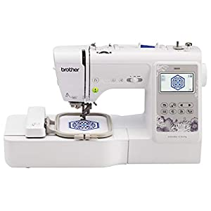 """Brother SE600 Sewing and Embroidery Machine, 80 Designs, 103 Built-In Stitches, Computerized, 4"""" x 4"""" Hoop Area, 3.2"""" LCD Touchscreen Display, 7 Included Feet"""