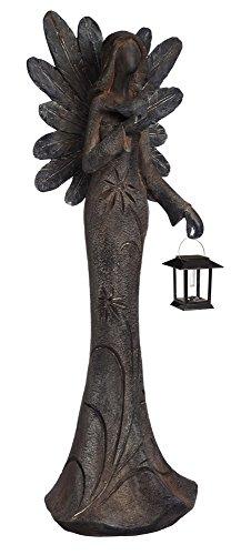 New Creative Floral Angel Garden Statue with Solar Lantern