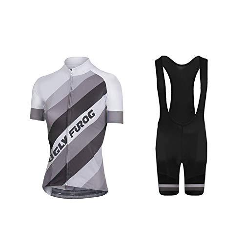 Uglyfrog Bike Wear Radsport Bekleidung Damen Summer Style Trikots & Shirts + Damen Radtrikot Set Radhose mit 3D Sitzpolster