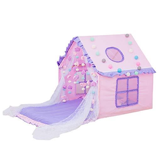 CHENSHJI Playhouse House Tienda Niños Play Play Tiend Childrens Tienda para niños Niñas Plazas de Interior y al Aire Libre Tienda Tipi para niños (Color : Pink Purple, Size : 110x110x125 cm)