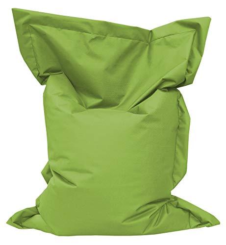 GiantBag Giant Bag Sitzsack Chill Out Liege & Sitzkissen Indoor & Outdoor Tobekissen Bodenkissen Sessel für Kinder & Erwachsene (145 x 120 cm, Limette)