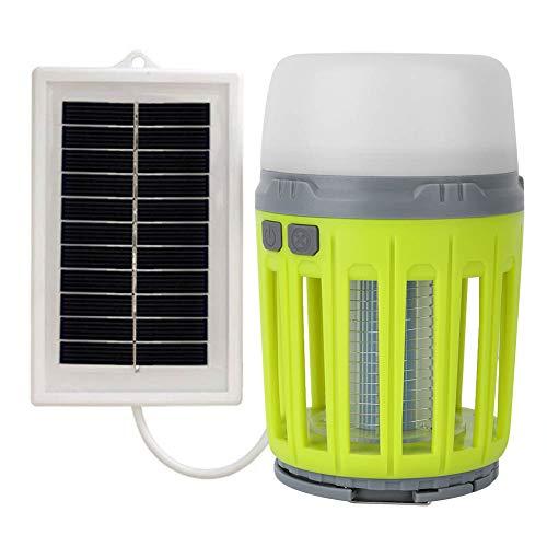 Esenlong Lámpara para asesinar mosquitos, energía solar, trampa electrónica de insectos, asesino de plagas para...