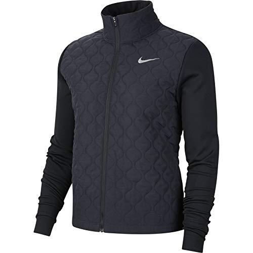 Nike Damen Aerolayer Jacke, Black/Reflective Silv, L