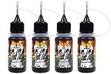 TinkTac, Temporary Tattoo Kit, Freehand Ink (Four Bottles) in Three Colors (Black/Black/Brown/ Red) with 82 Pcs Tattoo Stencils, Fake Tattoos, Henna Tattoo Kit Alternative
