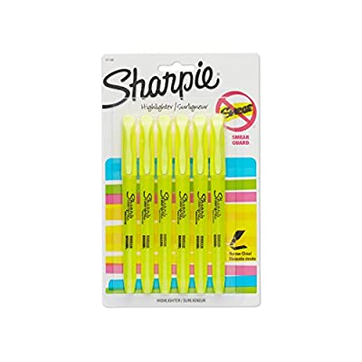 Sharpie 27108PP Accent Pocket Style Highlighter, Fluorescent Yellow, 6-Pack
