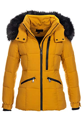 Elara Damen Winterjacke Gelb Chunkyrayan H-G904 Yellow-36 (S)
