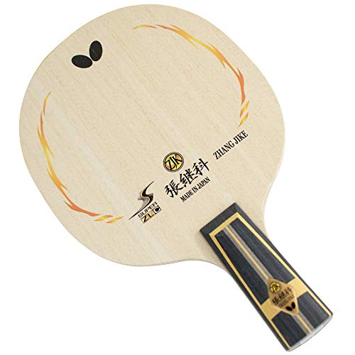 Butterfly Zhang Jike Super ZLC CS Blade - Professional Table Tennis Blade - Chinese Style Penhold Blade - Good for Traditional or Reverse Penhold Style - Made in Japan