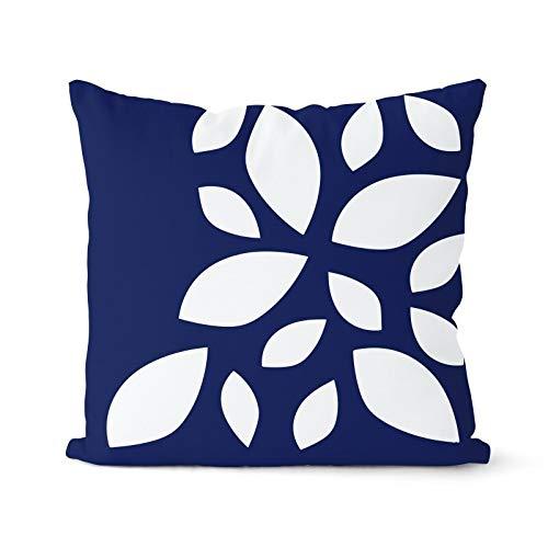 PPMP Funda de cojín Azul Marino nórdico Funda de geométrica Funda de para el hogar A7 45x45cm