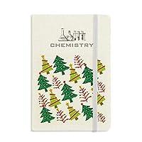 陽気なクリスマスツリーの緑のイラスト 化学手帳クラシックジャーナル日記A 5