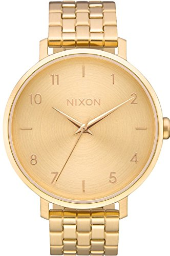 Nixon Damen Analog Quarz Uhr mit Edelstahl Armband A1090502-00