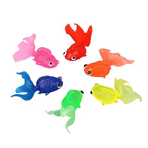 Guanici Schwimmende Goldfisch Simulation Kleine Goldfisch Aquarium Dekoration Goldfisch Schwimmende Fische Ornament Dekoration für Aquarien bunt Dekoration Landschafts Ornamente schwimmend 6 Stücke