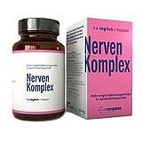 NERVEN KOMPLEX Kapseln | Durchdachte hochdosierte Vitamin B Komplex Rezeptur mit Pflanzen-Extrakten...