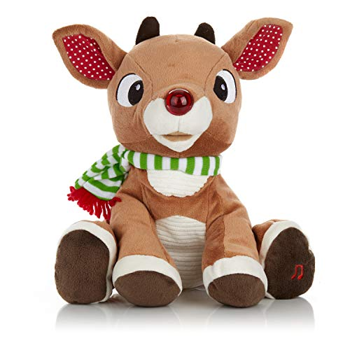 Rudolph the Red - Nosed Reindeer - Stuffed Animal Plush Toy with...