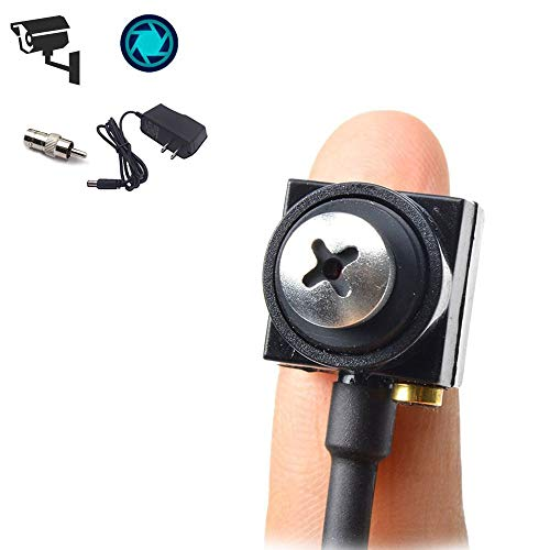 Mini Spy Hidden Camera HD 1000TVL Portable Small CCTV Button Screw Cam Pinhole Convert BNC Security Camera Nanny Cam for Indoor Home Office Surveillance System Hidden Spy Video Cam DVR FPV by TPEKKA