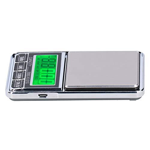 Tara-Funktion mit hoher Messgenauigkeit Waage Gewicht Waage Taschenwaage für das Home Office(0.01/200G)