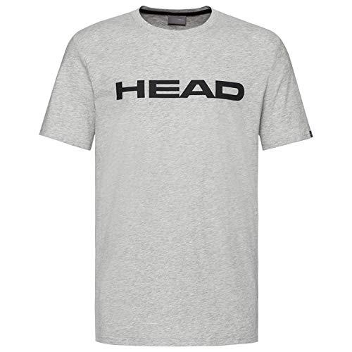 HEAD Club Ivan, T-Shirt Uomo, Gris Melange/Nero, XL