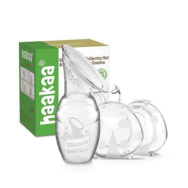 Haakaa Manual Breast Pump & Breast Shell Combo Breastmilk Collector for Breastfeeding...