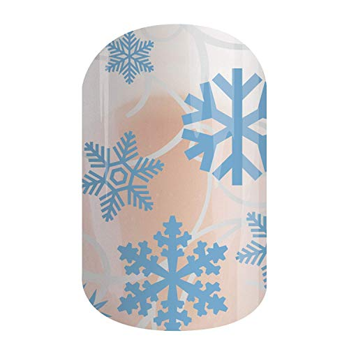 Falling Snowflakes - Jamberry Nail Wraps - Full Sheet - Fun & Trendy Nail Art Stickers