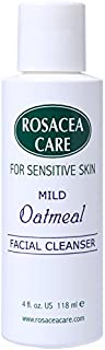 Mild Oatmeal Cleanser Non-Drying Redness Relief with Colloidal Oatmeal Best Natural Rosacea Cleanser Really Effective Anti Itch for Dry Sensitive Skin (4 Fl Oz)