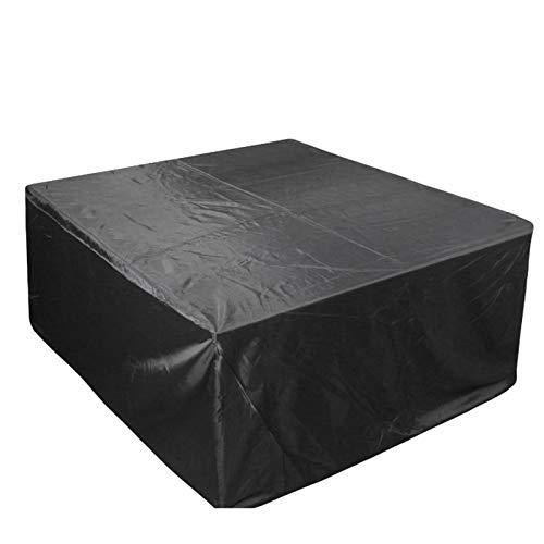 KANGLIPU Funda Muebles Jardin 126x126x74cm Resistente Al Viento Resistente al Polvo Fundas Mesas Jardin Exterior Material 100% Ecológico para Muebles de Jardin, Mesa y Sillas, Negro