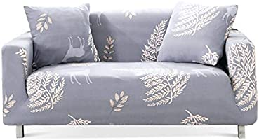 Chozan Pattern Sofa Slipcovers Stretch Printed Sofa Cover with 2 Pillowcases for 2 Seat Cushion Couch Furniture Pet...