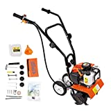 BEAMNOVA Rototiller Tiller Cultivator Yard Tools Garden Gas Powered Lightweight Cordless Cart