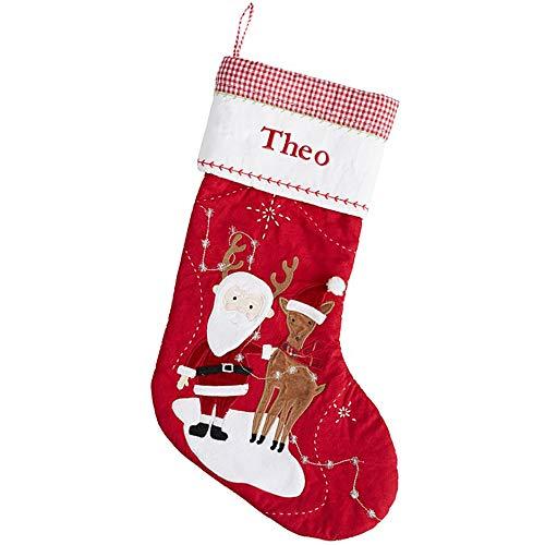 Lookit Like Medias de Navidad personalizadas bordadas con cualquier nombre, decoración de Papá Noel, regalos para...