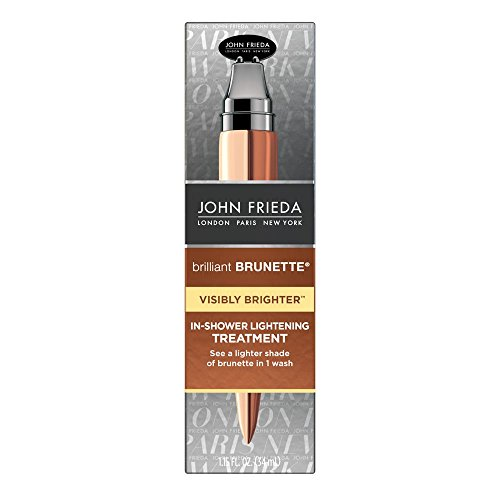 John Frieda Brilliant Brunette Visibly Brighter Subtle Lightening Conditioner, 8.3 Ounces, Eliminates Neutral Tones, Sleek Brown Shine, with Honey and Marigold Extract