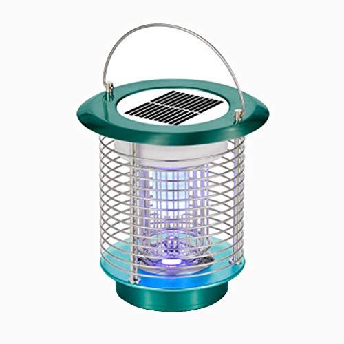 Andouy Tragbare Solarenergie Moskito Lampe Haushalt-Mückenschutz USB LED-Licht Mückenfalle(18×18×18cm.Grün-1)