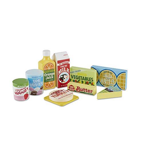 Melissa & Doug | Aliments En Bois Pour Réfrigérateur | Pour garçon ou fille | 3+ | Pretend Play