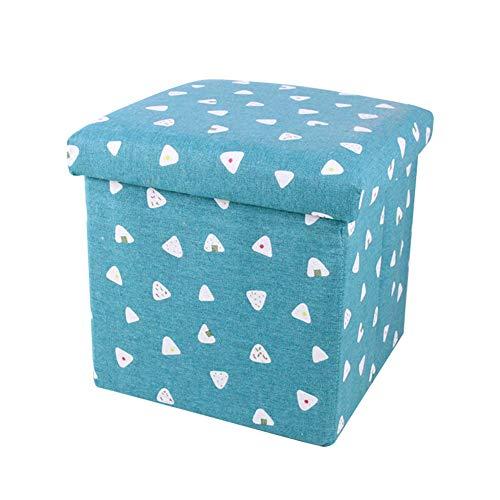 SXGKY Aufbewahrungsbox Gepolstert Mit Stauraum Belastbar Gepolstert Truhenbank Bank, Aus Leinen Aufbewahrungsbox Fußschemel (Color : Rice Ball)