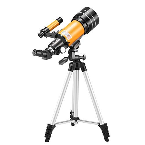 Dan&Dre Telescopio astronómico profesional para niños con trípode y mando a distancia inalámbrico, para principiantes (configuración estándar + clip de foto + película solar)