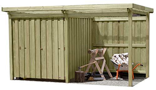 Gartenpirat Gerätehaus Holz mit...