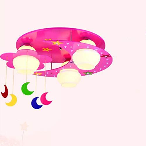 YWSZJ Luz de Luna Luces for niños Luces for dormitorios Luces for Habitaciones de niños Niños y niñas Princesa de Dibujos Animados Luces de Techo Creativas for jardín de Infantes (Color : B)