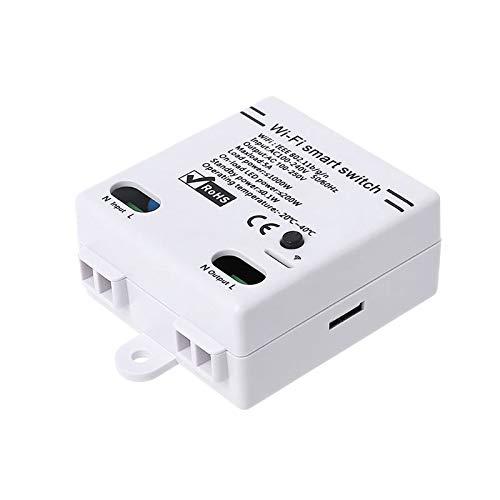Fltaheroo Interruptor inteligente WiFi 2.4G para aplicación Ewelink DIY control remoto automatización módulo controlador de relé funciona con Alexa Home