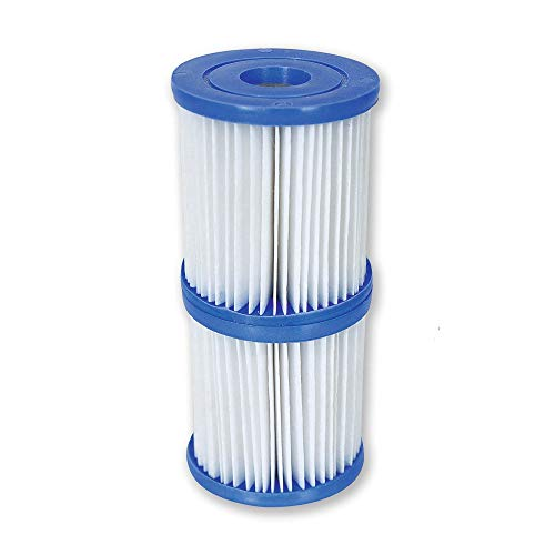 Bestway Flowclear Type V/Type K 330 GPH Replacement Filter Cartridge (2 Pack)