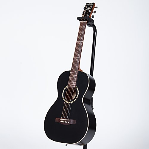Art Lutherie AMI Steel String Cedar - Black 6-string Acoustic Guitar with Deluxe Gig Bag 6-string Acoustic Guitar with Gigbag