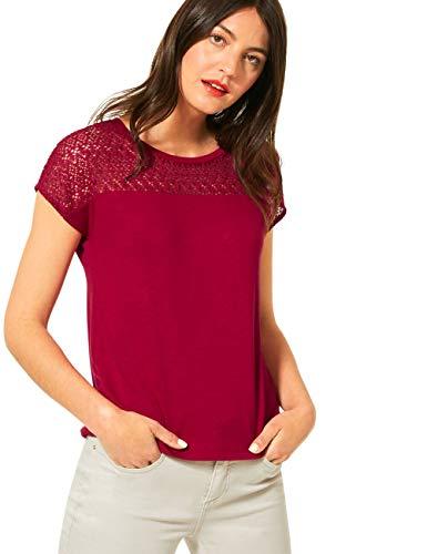 Street One Damen 315109 T-Shirt, Sweet Wine, 38