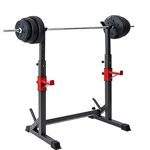 Rack de sentadillas de altura ajustable, Barra de entrenamiento físico de fuerza,...