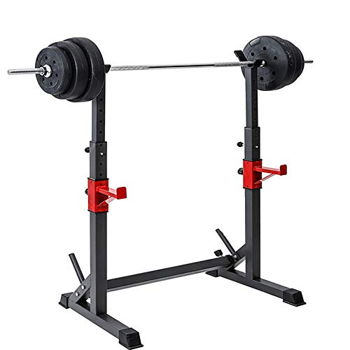 Höhenverstellbarer Squat Rack , Krafttraining Fitness Langhantel, Squat Stands Rack Barbell Free Press Bank, Home Gym Krafttraining Stand Fitness